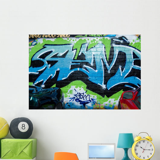 Abstract Urban graffiti Wall Mural