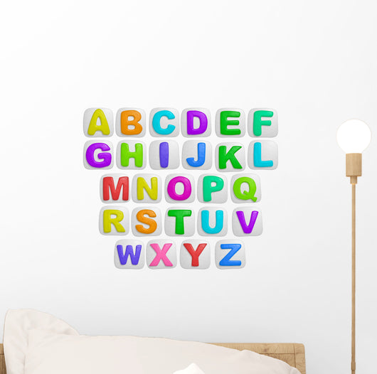 Peel and Stick Alphabet Wall Stickers