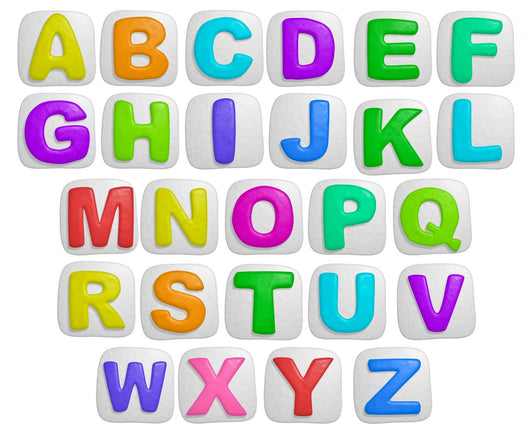 Peel and Stick Alphabet Letters Wall Decal