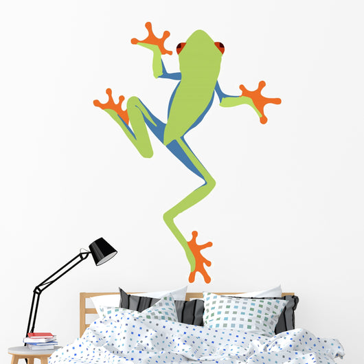 Red Eyed Tree Frog Cartoon Wall Decal Wallmonkeys Com Affordable and search from millions of royalty free images, photos and vectors. red eyed tree frog cartoon wall decal