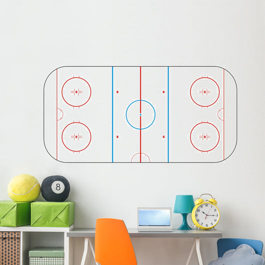 Texture for Ice hockey rink Wall Decal