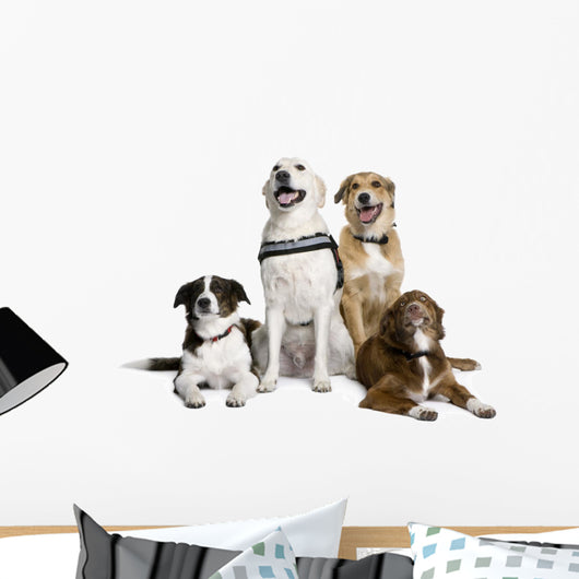 Group of Bastard Dogs Sitting Wall Decal
