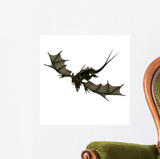 Giant Terrifying Dragon with Wall Decal