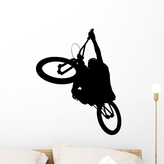 Dirt Biker Silhuette Wall Decal