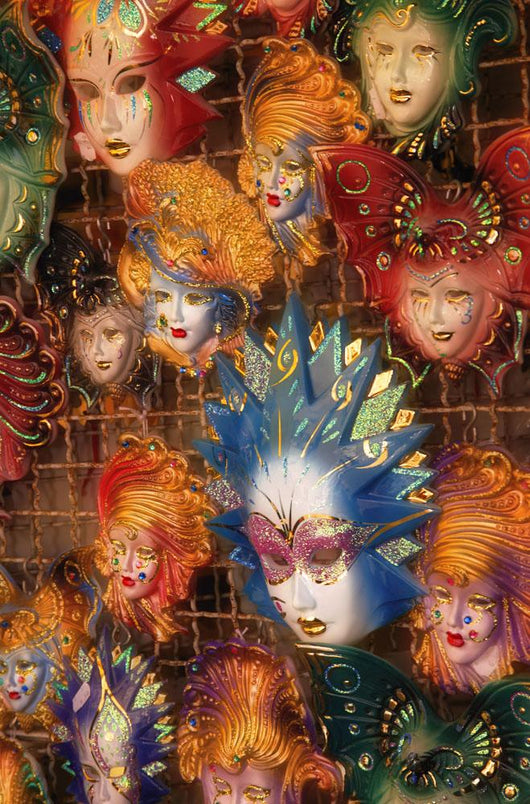 Masks On Display In Italy Wall Mural