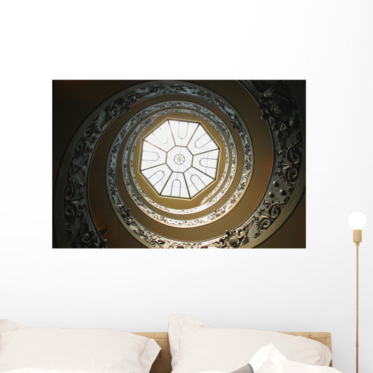 Winding Staircase, Vatican Museums, Vatican City, Rome, Italy Wall Mural