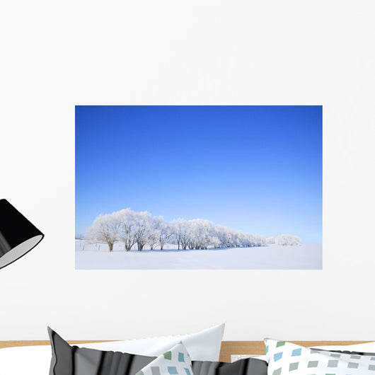 Trees In Winter Wall Mural