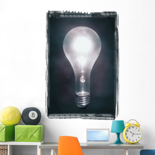 Light Bulb Wall Mural