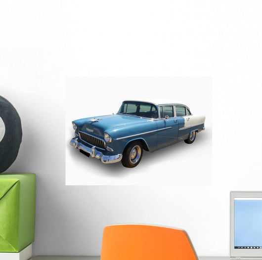 Blue Antique Shinning Cadillac Wall Decal