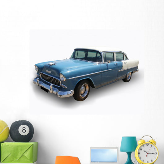 blue antique shinning cadillac car - isolated Wall Decal