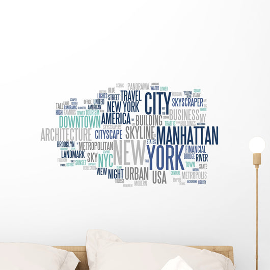 New York - Abstract Postcard Wall Decal