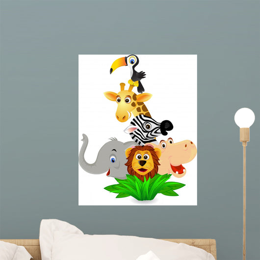 Safari Cartoon Wall Mural