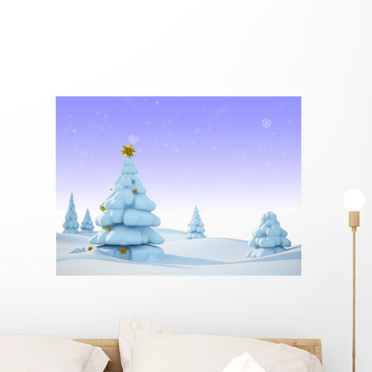 Snow Wall Mural