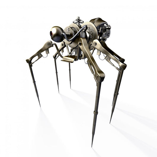 Isolated 3d Render of Steampunk Spider Wall Decal