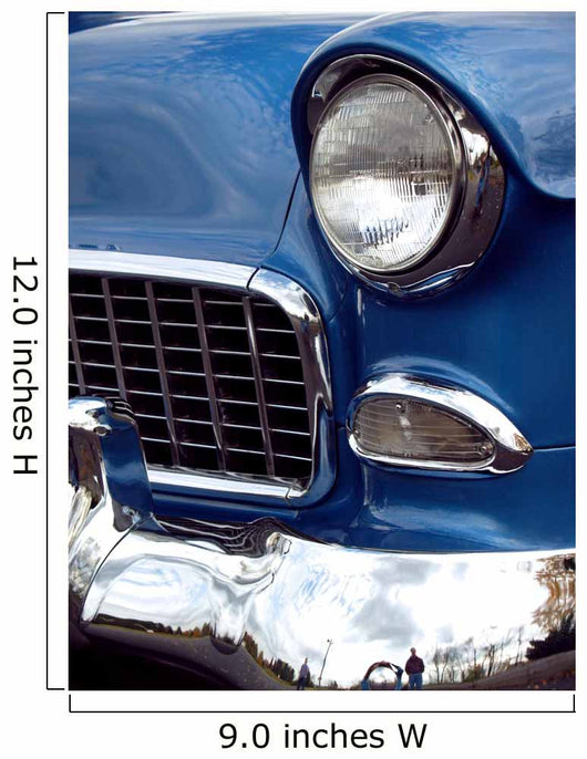 1955 u.s. classic car front end with chrome bumper Wall Mural