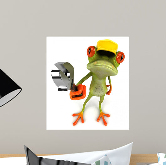 Frog Construction Wall Decal