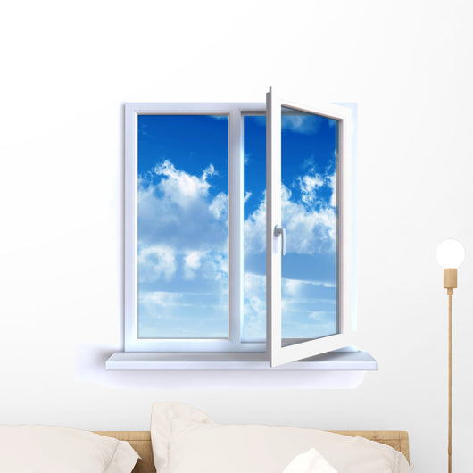 Open Window and the Cloudy Sky Wall Decal