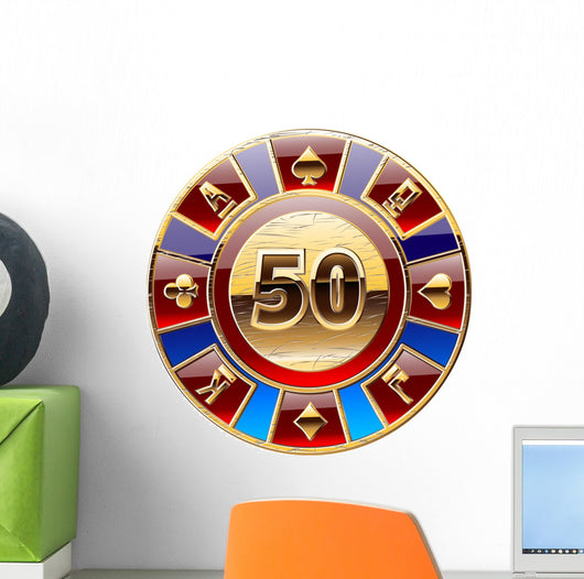 casino's decorative golden coin Wall Decal