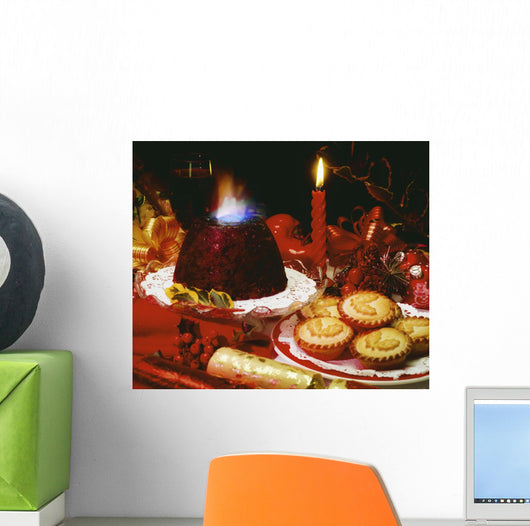 Traditional Christmas Dinner In Ireland Wall Mural