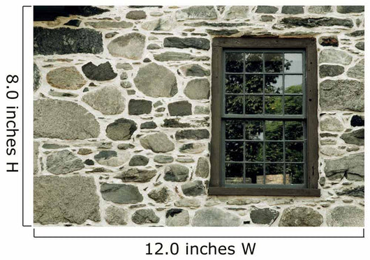 Stone Wall With A Window Wall Mural