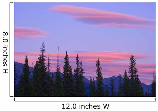 Sunset And Clouds, Banff National Park, Alberta, Canada Wall Mural