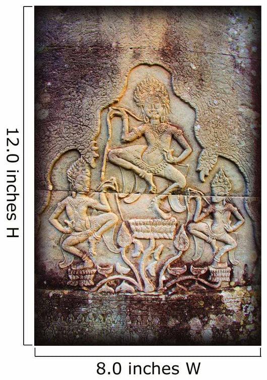 Bas-Reliefs Of Hindu Myths At Bayon Temple Of Angkor Thom Wall Mural