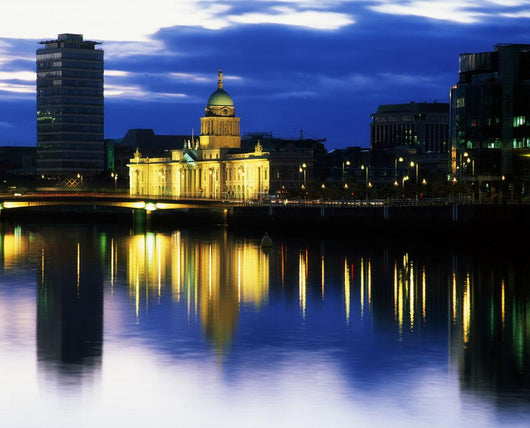 Customs House And Liberty Hall, River Liffey, Dublin, Ireland Wall Mural