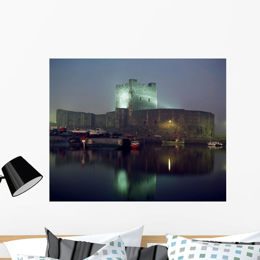 Carrickfergus Castle & Harbour, Co Antrim, Ireland Wall Mural
