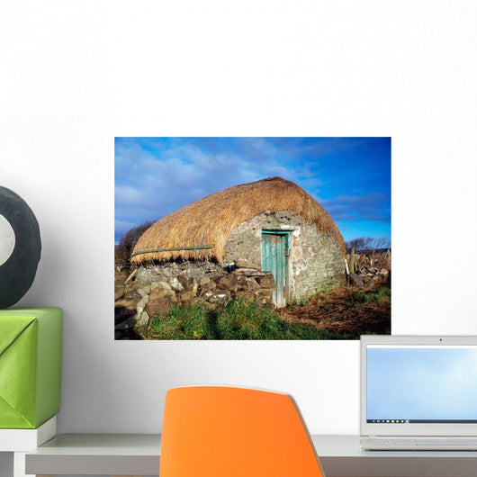 Thatched Shed, St Johns Point, Co Donegal, Ireland Wall Mural