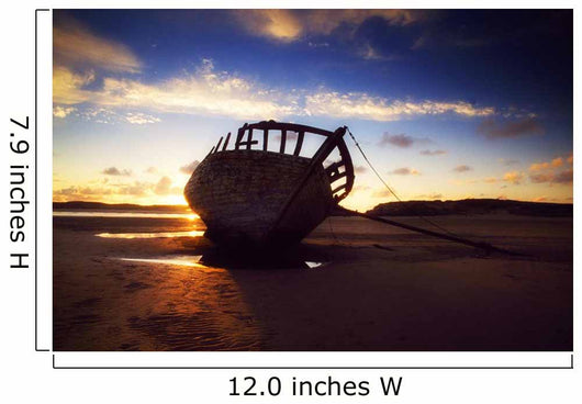Shipwreck At Sunset, Co Donegal, Ireland Wall Mural