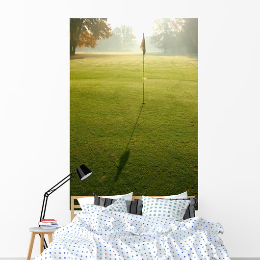 Morning on a golf course Wall Mural