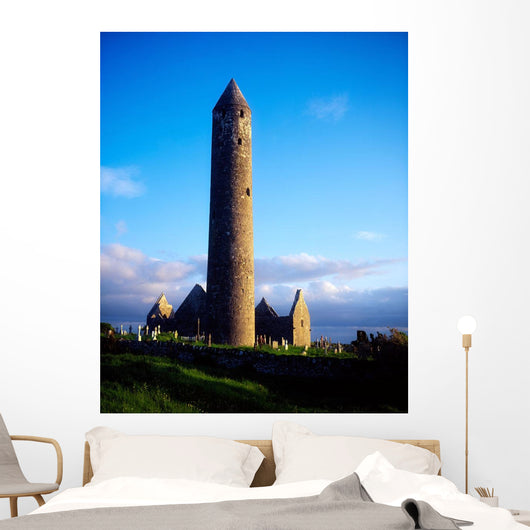 Round Tower Near Gort, Co Galway, Ireland Wall Mural