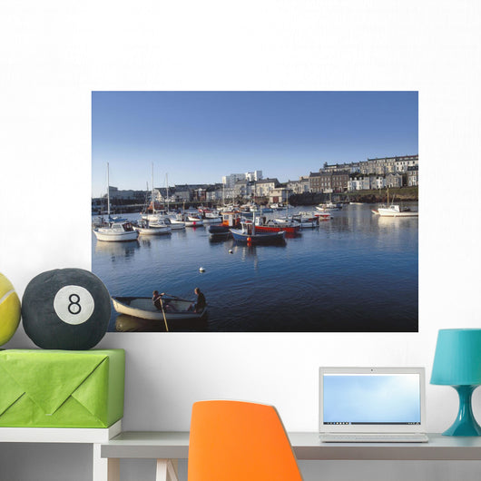 Portrush Harbour, Co Antrim, Ireland Wall Mural