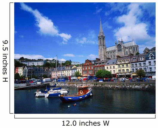 Cobh Cathedral & Harbour, Co Cork, Ireland Wall Mural