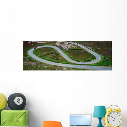Hairpin Bends In The, Healy Pass, Beara Peninsula, Co Cork, Ireland Wall Mural