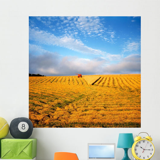 Combine Harvesting, Wheat, Ireland Wall Mural