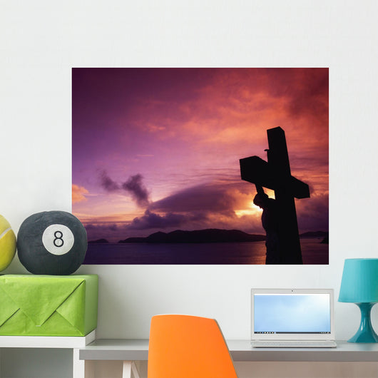 Sculpture Of Crucifixion Wall Mural