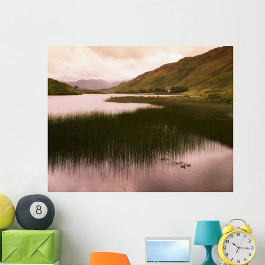 Kylemore Lough, Co Galway, Ireland Wall Mural