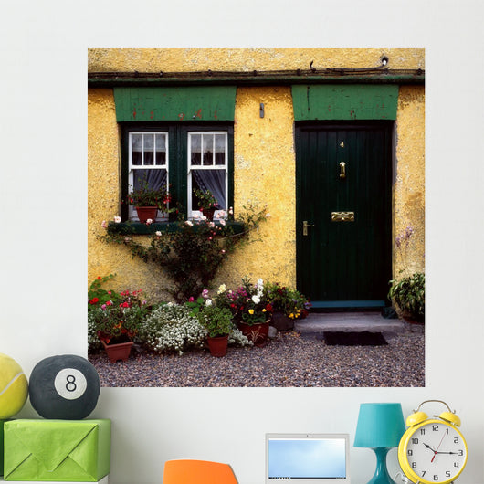Cottage At Bushmills, Co Antrim, Ireland Wall Mural