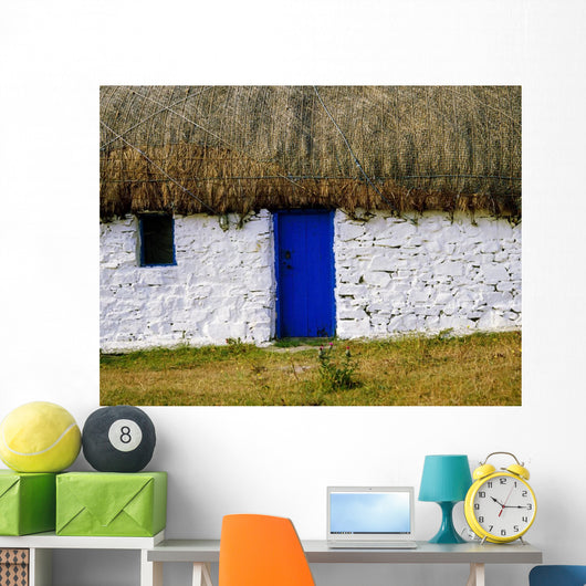 Traditional Cottages, Co Galway, Ireland Wall Mural