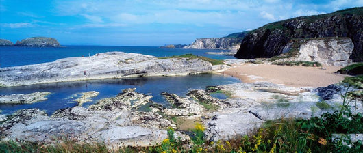 Ballintoy Harbour, Co Antrim, Ireland, Limestone Cliffs Wall Mural