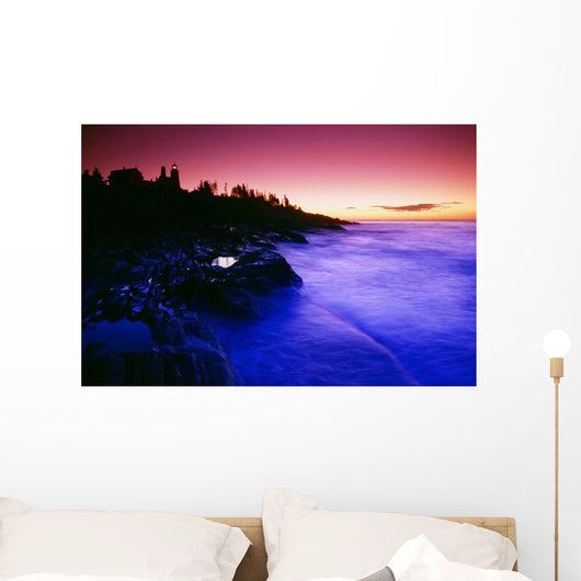 Pemaquid Point Lighthouse, Bristol, Maine, Usa Wall Mural