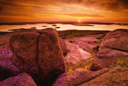 View From Cadillac Mountain At Sunrise Wall Mural