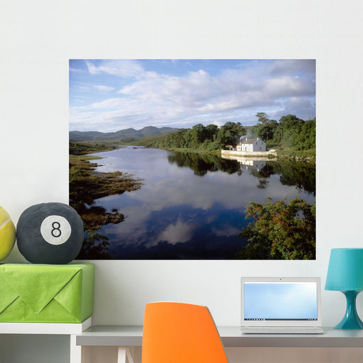 Lackagh River, Creeslough, County Donegal, Ireland Wall Mural