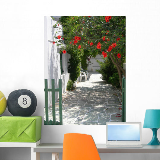 Greek Island Scene Wall Mural