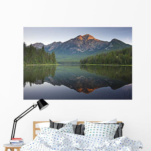 Mountain Reflection, Pyramid Mountain, Jasper, Alberta, Canada Wall Mural
