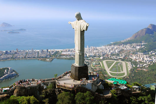 Aerial View of Christ the Redeemer Monument Wall Mural