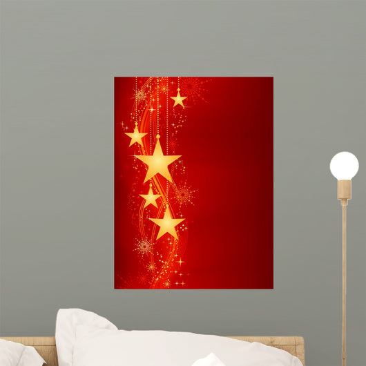 Golden Hanging Stars Red
