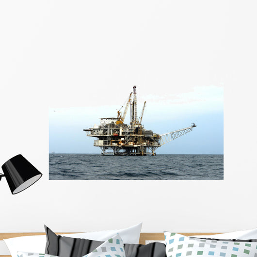 offshore oil drilling platform Wall Mural