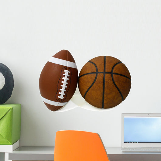American Football and Basketball Wall Decal